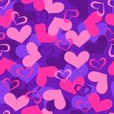 Hearts Seamless Vector Pattern. Valentines Hearts Seamless Repeat Pattern Vector Illustration eps stock illustration