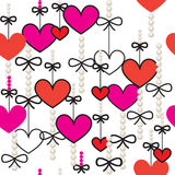 Hearts - seamless vector pattern Stock Photos