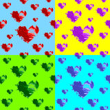 Hearts seamless wallpaper Stock Image