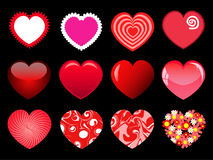 Hearts set. Different types of hearts   images set Royalty Free Stock Images