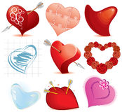 Hearts set. Collection of stylized hearts (vector available vector illustration