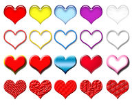 Hearts_set stock illustratie