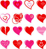 Hearts set Stock Images