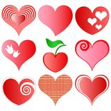 Hearts set Stock Photos