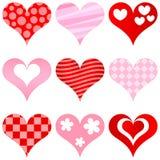 Hearts set Stock Photos