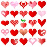 Hearts set Royalty Free Stock Image