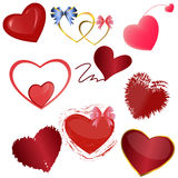 Hearts, a set Stock Photography