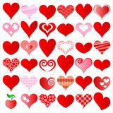 Hearts set Royalty Free Stock Images