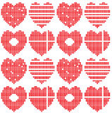 Hearts set Royalty Free Stock Photos