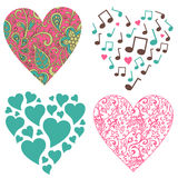 Hearts-set Royalty Free Stock Photo