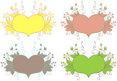 Hearts. Set Stock Images