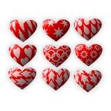 Hearts set Royalty Free Stock Photos