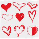 Hearts set. Vector illustration of beautifull hearts icon set Royalty Free Stock Photography