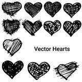 Hearts set Stock Photo