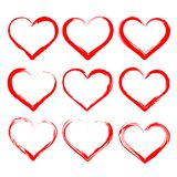 Hearts set cartoon   illustration Royalty Free Stock Images