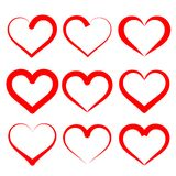 Hearts set cartoon vector  illustration Royalty Free Stock Images