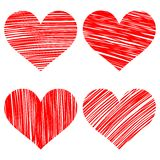 Hearts set cartoon vector  illustration Royalty Free Stock Photo