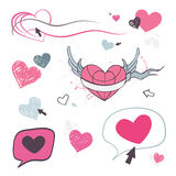 Hearts set. Design element. Royalty Free Stock Image
