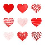 Hearts set Royalty Free Stock Photo