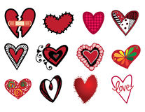 Hearts. Set of different hearts illustration Stock Photos