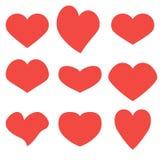 Hearts set icons stock illustration