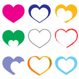 Hearts. Set of hearts logo - vector Royalty Free Stock Image