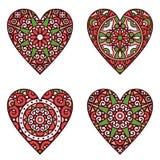 Hearts set Stock Image