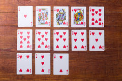 Hearts Set of playing cards Royalty Free Stock Image