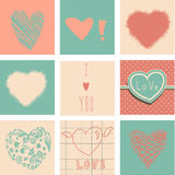 Hearts set for Valentines day Royalty Free Stock Photos