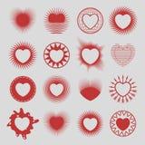 16 hearts Stock Photo