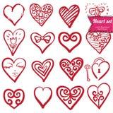 Hearts set Royalty Free Stock Image