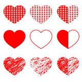 Hearts set for wedding and valentine design Stock Photo