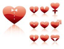 Hearts Sex Character Royalty Free Stock Photos