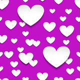 Hearts with shadow Royalty Free Stock Photography