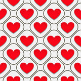 Hearts with shadow Royalty Free Stock Images