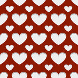 Hearts with shadow Royalty Free Stock Photos