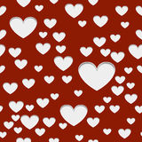 Hearts with shadow Stock Images