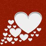 Hearts with shadow Royalty Free Stock Photo