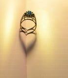 Hearts shadows of a ring Stock Photo