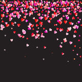 Hearts shape on black background Royalty Free Stock Images