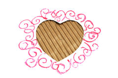 Hearts shape cut from carboard Stock Image