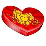 Hearts shape gift box Royalty Free Stock Photos