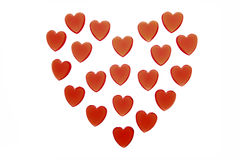 Hearts in the Shape of a Heart, close-up Royalty Free Stock Photos