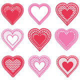 Hearts Shape Pattern Design Royalty Free Stock Images