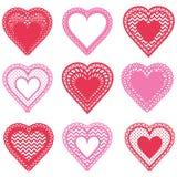 Hearts Shape Pattern Design stock illustration