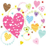 Hearts Shape Patterns Stock Photos