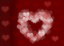 Hearts. Shape with red background Royalty Free Stock Photo