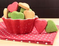 Hearts shaped cakes Royalty Free Stock Image