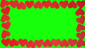 Hearts shaped on the green screen. You can replace the green screen on any of your image stock video