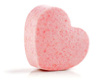 Hearts shaped Sugar Pill. Royalty Free Stock Images